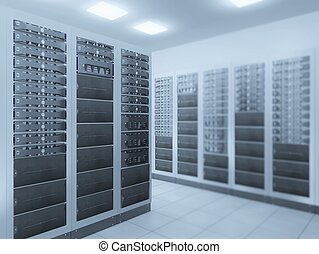 network server room - computer network server room 3d render...
