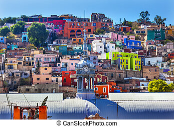 Colored Houses Iglesia de San Roque Market Mercado Hidalgo...