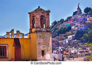San Rocque Church El Pipila Statue Guanajuato Mexico