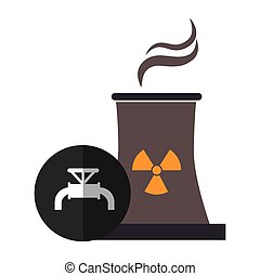 nuclear reactor plant with tap icon over black circle....