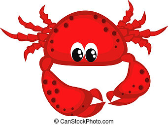 Crab - Sea food, red crab ,isolated ,icons