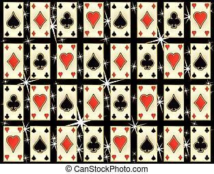 Seamless casino pattern with poker