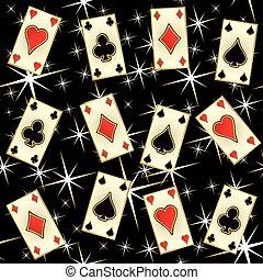 Seamless poker casino pattern