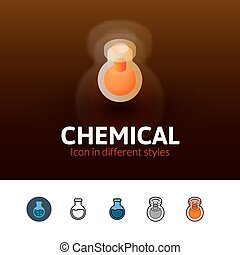 Chemical icon in different style