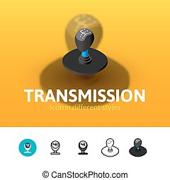 Transmission icon in different style - Transmission color...