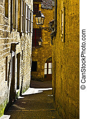 City of Sarlat - Narrow Street in French City of Sarlat