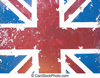 national flag on old rusty grunge background