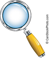 Magnifying glass over white. EPS 8, AI, JPEG