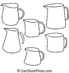 vector set of jug