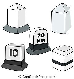 vector set of milestone