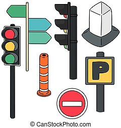 vector set of traffic icon