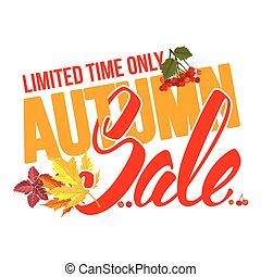 Autumn sale - Seasonal autumn sale ad inscription with...