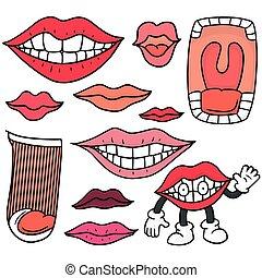 boca,  vector, Conjunto