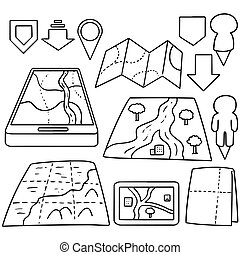 vector set of map
