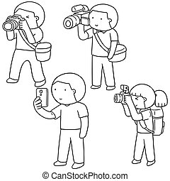 vector set of photographers