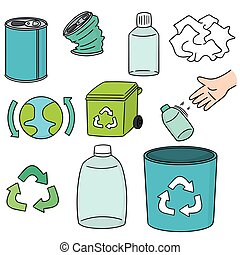 vector set of recycle icon - vector set of ecology and...