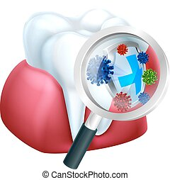 Protected Tooth and Gum - Tooth and gum being protected from...