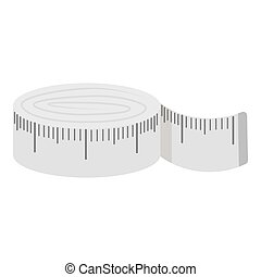 Measuring tape icon of vector illustration for web and mobile
