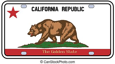 California License Plate Flag - California License Plate in...