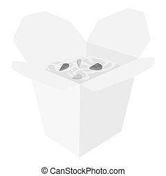 Noodles vector icon in monochrome style for web
