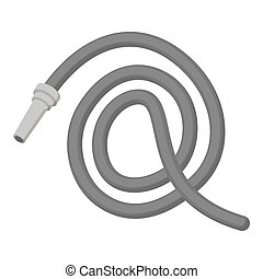 Hose icon vector icon monochrome. Single silhouette fire...