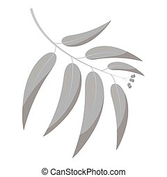 Eucalyptus vector icon in monochrome style for web -...