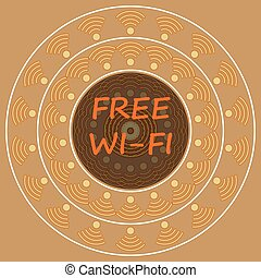 vintage free wi-fi sign background