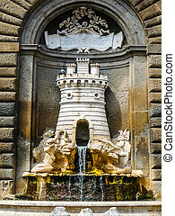 HDR Fountain in the city of Nepi - NEPI, ITALY - CIRCA JUNE...