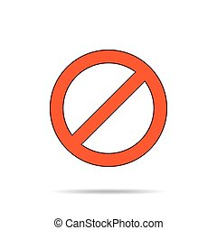Not Allowed Sign. Vector. - Not allowed sign. Stop sign in...