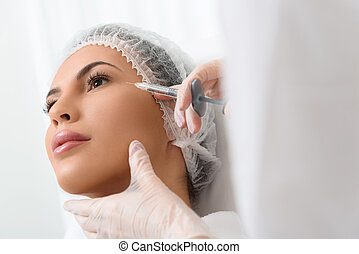 This procedure will make your facial skin perfect - Close up...