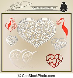 vector collection to Valentine s day - retro vector set of...