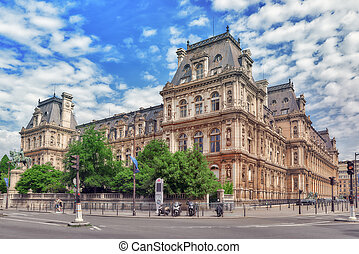Hotel de Ville in Paris, is the building housing city's...