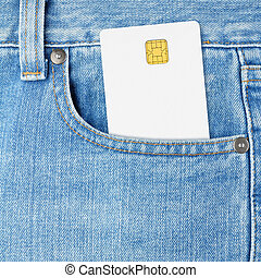 Credit card in jeans pocket
