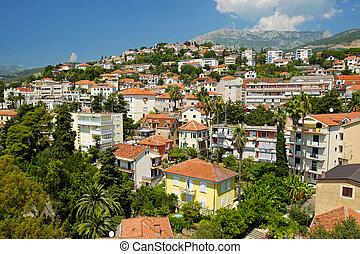 View of town Herceg Novi, Kotor Bay, Montenegro