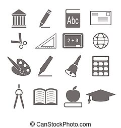 vector of education icons