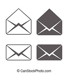 vector of e-mail icons