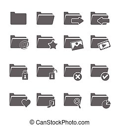 vector of folder icons