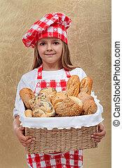 わずかしか, パン屋, 女の子