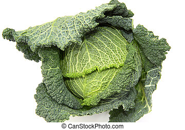 Collard greens or kale vegetables - Kale or leaf cabbage is...