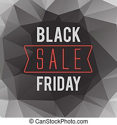 Black Friday sale text on low polygonal background vector...