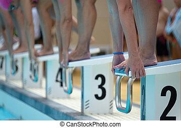 Bloques, Nadadores, De arranque