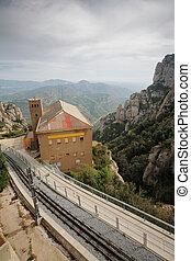 View from Monastery Montserrat, Barcelona, Catalonia, Spain