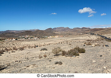 Beautiful volcanic mountains on Fuerteventura Canary Islands...