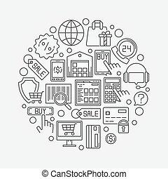 Shopping and ecommerce illustration