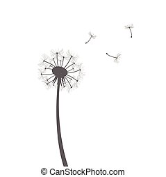 Dandelion silhouette illustration