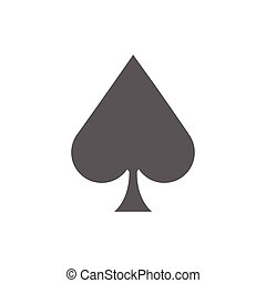 Ace of Spades Icon - Ace of spades icon illustration on a...