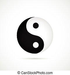 Yin Yang Illustration - Illustration of an asian yin yang...