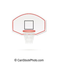 Basketball Hoop Illustration - Illustration of a basketball...