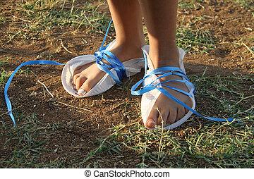 feet of poor girl