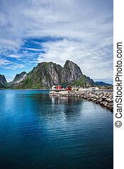 Lofoten archipelago islands - Lofoten islands is an...